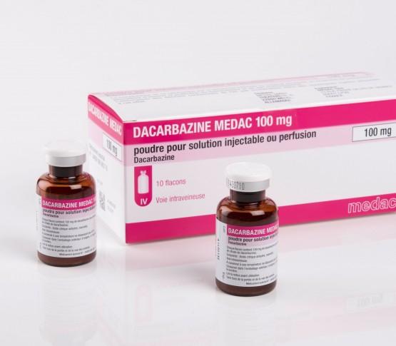 Flacon de 100 mg de poudre Dacarbazine medac 100 mg Poudre pour solution injectable ou perfusion