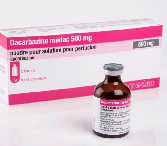 Flacon de 500 mg de poudre Dacarbazine medac 500 mg Poudre pour solution pour perfusion