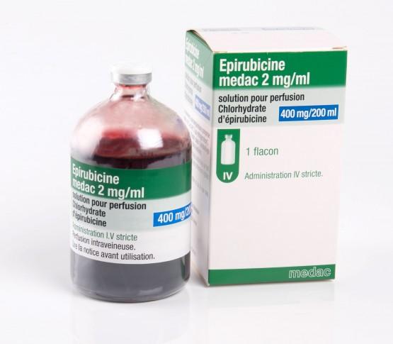 Flacon de 200 ml Epirubicine medac 2 ml / mg Solution pour perfusion 400 mg / 200 ml