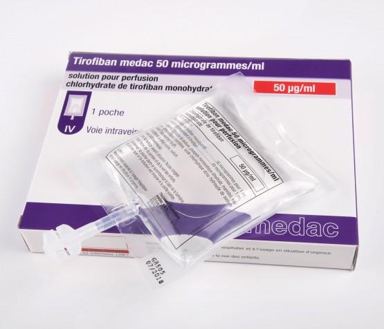 poche de 250 ml de Tirofiban medac 50 µg / ml solution pour perfusion