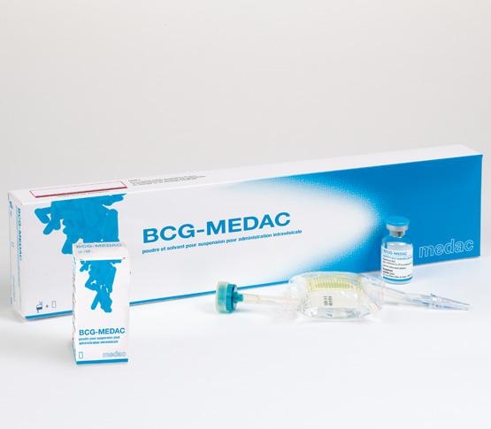 BCG medac poudre et solvant pour suspension pour administration intravesicale